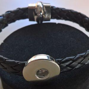 Svart Armband med magnetfäste