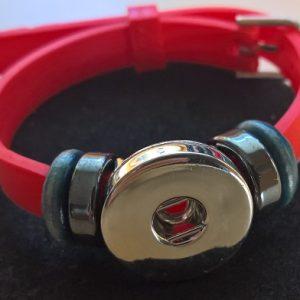 Rött Silikon Armband